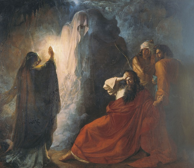 King Saul Uses a psychic to conjure up Samuel