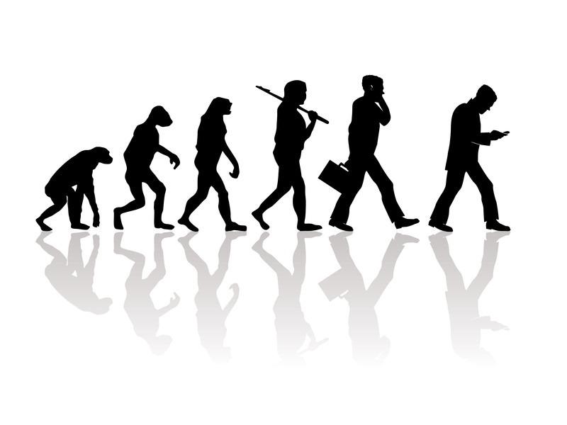 evolution hunched